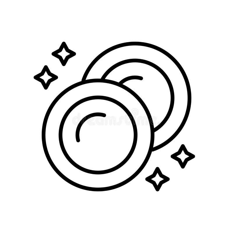 Vettore dell'icona del piatto isolato su fondo bianco, segno del piatto, linea sottile elementi di progettazione nello stile del  royalty illustrazione gratis