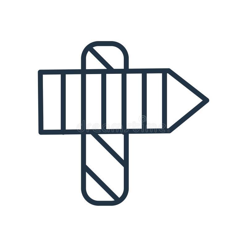 Vettore dell'icona del polo nord isolato su fondo bianco, segno del polo nord illustrazione vettoriale