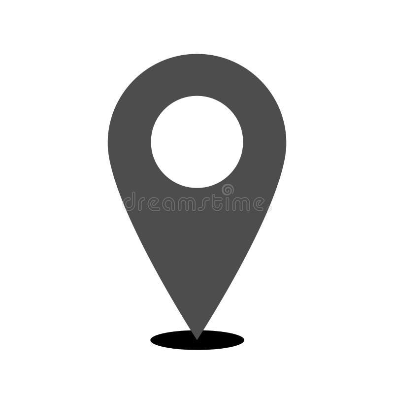Vettore dell'icona del posto di posizione isolato con il simpel del fondo regolare royalty illustrazione gratis