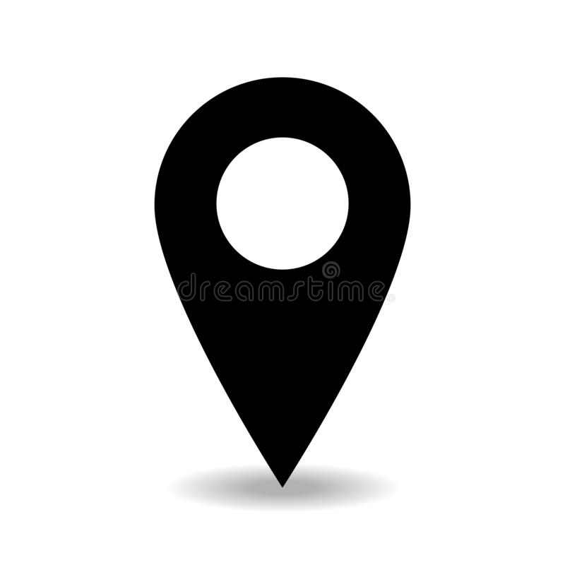Vettore dell'icona del posto di posizione isolato con il simpel del fondo regolare illustrazione vettoriale