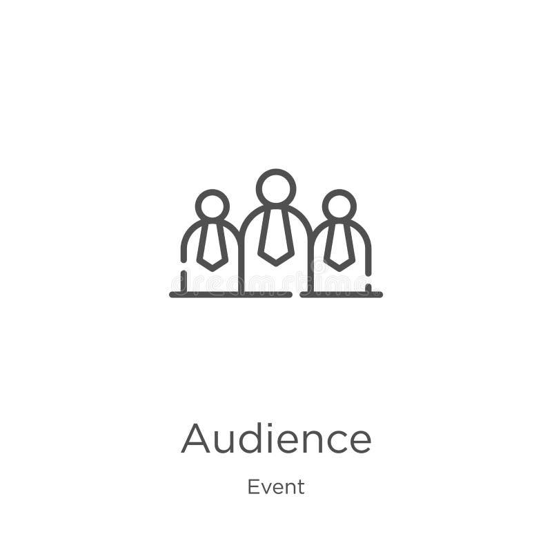 vettore dell'icona del pubblico dalla raccolta di evento Linea sottile illustrazione di vettore dell'icona del profilo del pubbli illustrazione vettoriale