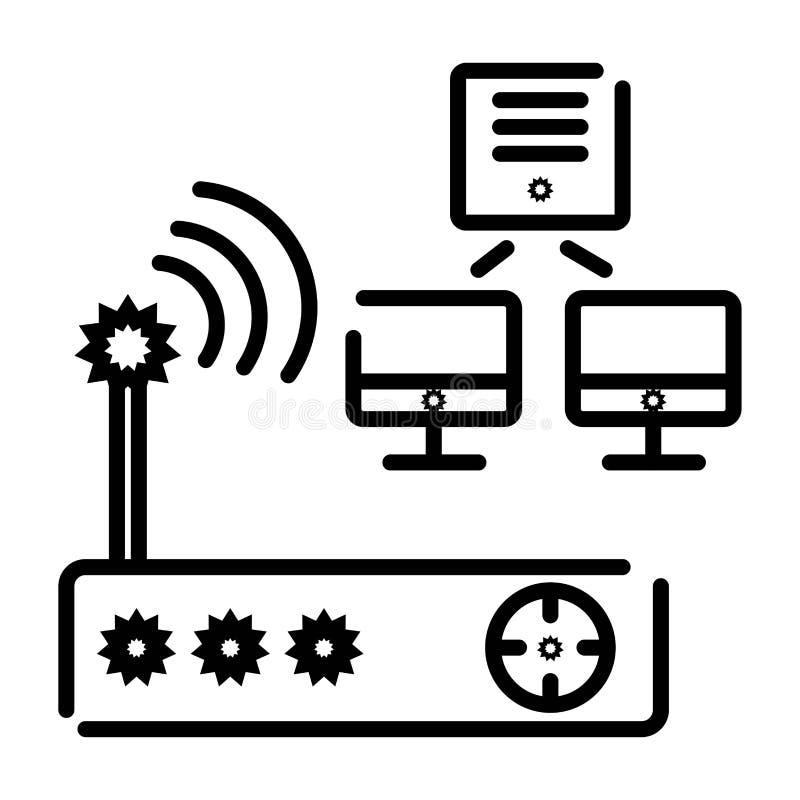 Vettore dell'icona del router illustrazione di stock