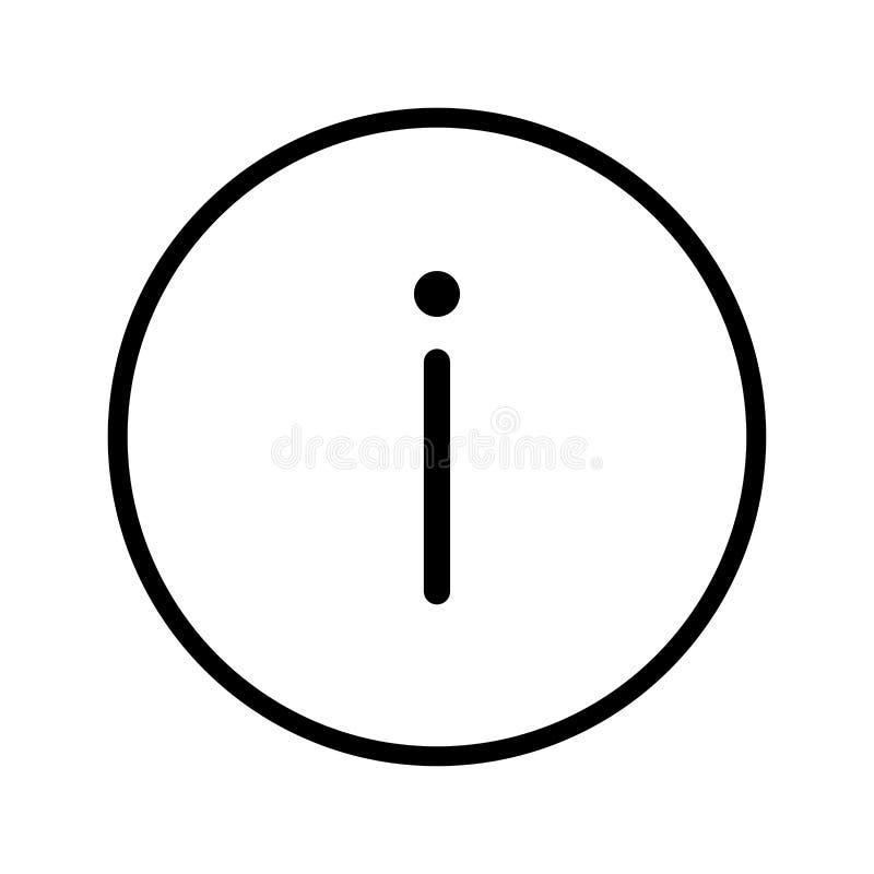 Vettore dell'icona del segnale di informazione nella linea del cerchio - vector il iconi illustrazione di stock
