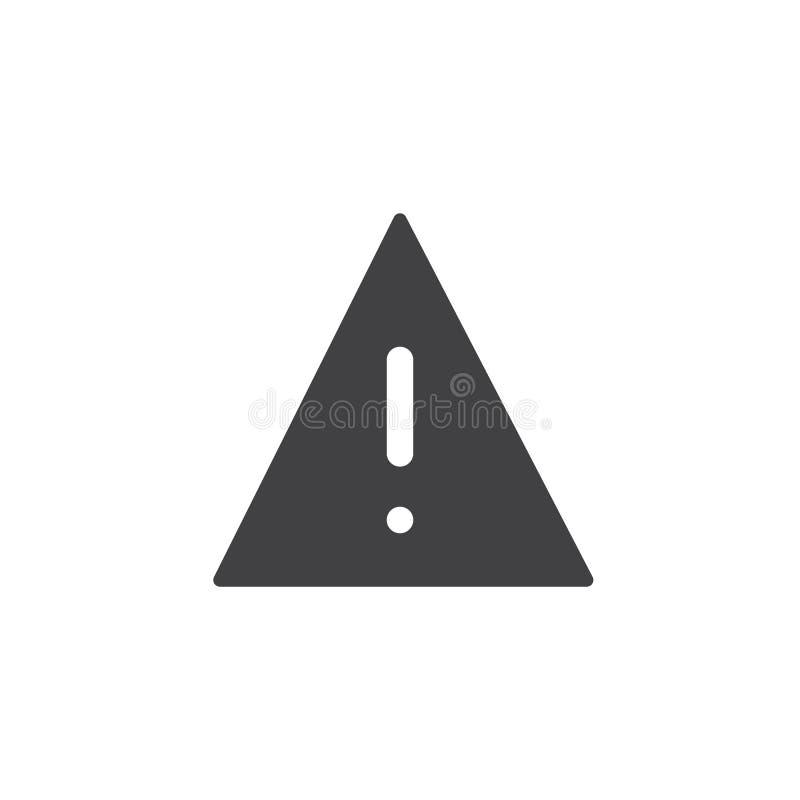 Vettore dell'icona del segnale di pericolo illustrazione di stock