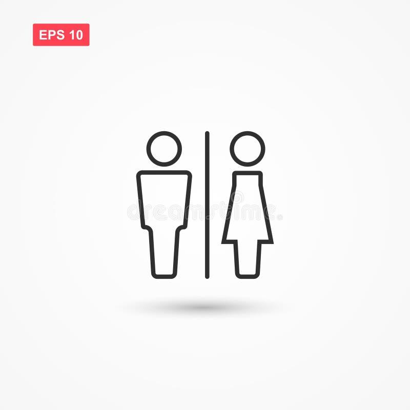 Vettore 3 dell'icona del segno della donna e dell'uomo illustrazione vettoriale