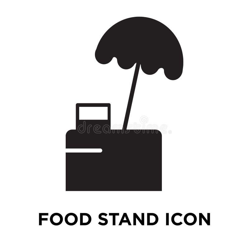 Vettore dell'icona del supporto dell'alimento isolato su fondo bianco, concep di logo illustrazione di stock