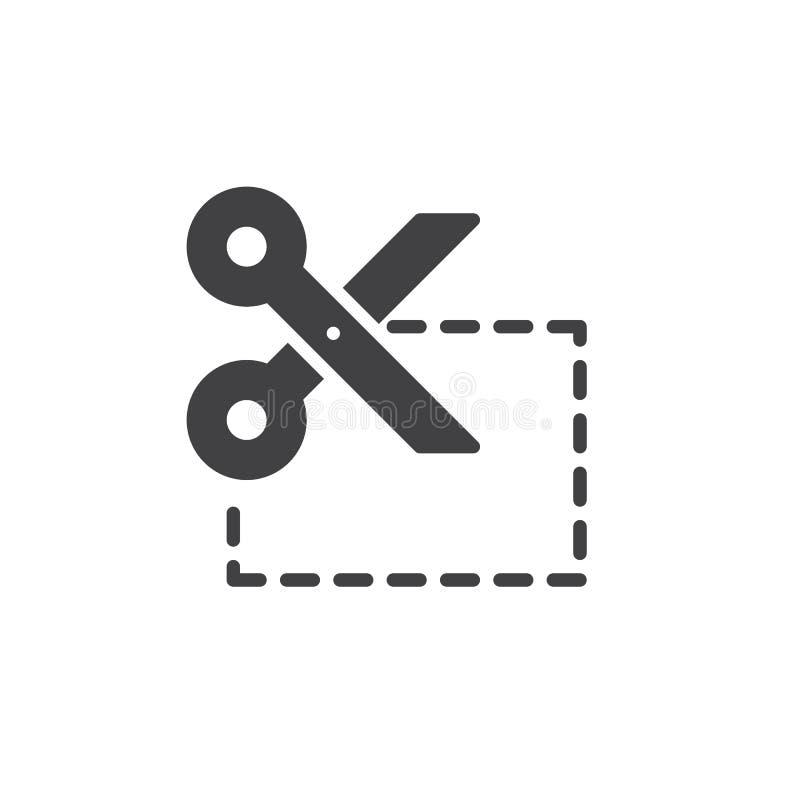 Vettore dell'icona del taglio di buono illustrazione di stock