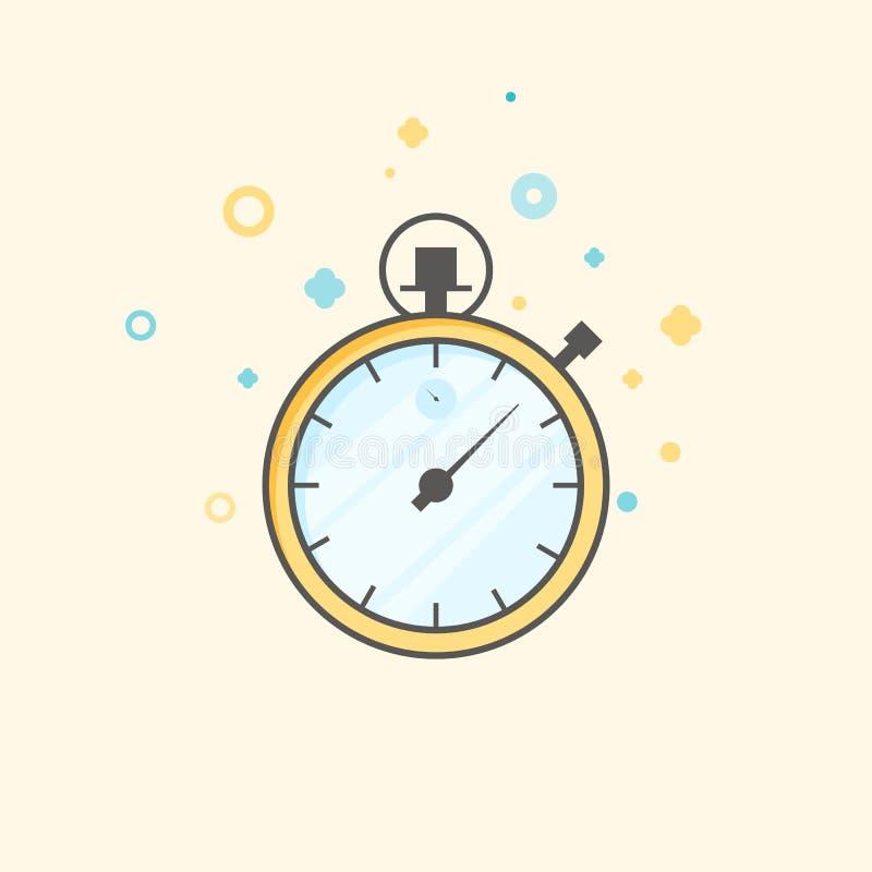 Vettore dell'icona del temporizzatore Concetto di attesa, di tempo e dell'orologio Icona piana di colore di stile Affare ed ammin royalty illustrazione gratis