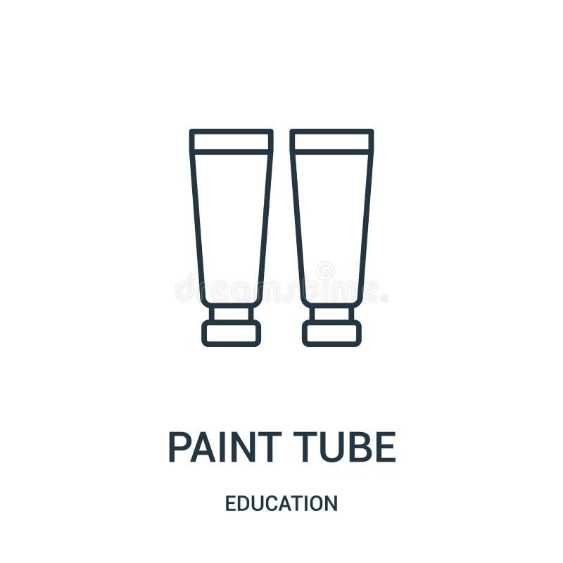 vettore dell'icona del tubo della pittura dalla raccolta di istruzione Linea sottile illustrazione di vettore dell'icona del prof royalty illustrazione gratis
