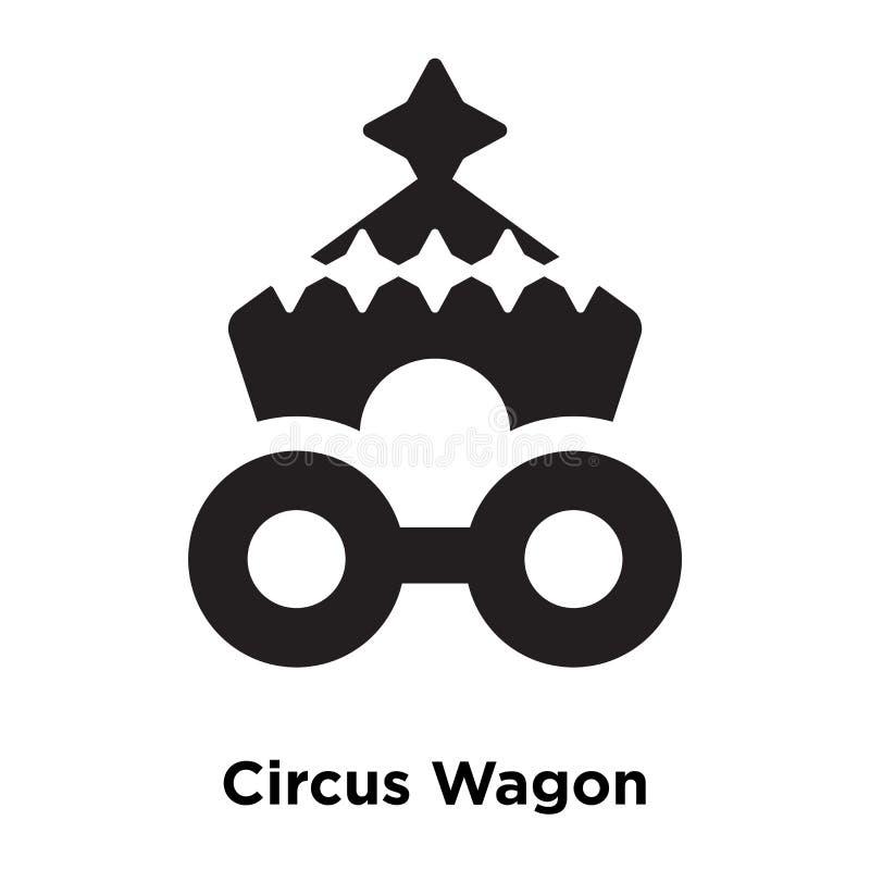 Vettore dell'icona del vagone di circo isolato su fondo bianco, logo concentrato royalty illustrazione gratis