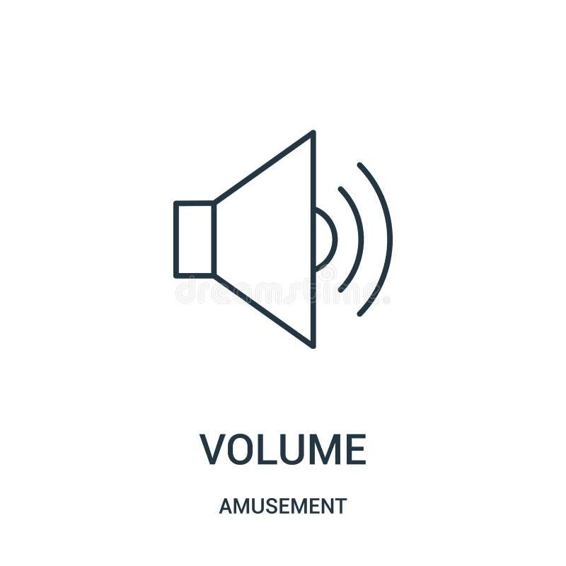 vettore dell'icona del volume dalla raccolta di divertimento Linea sottile illustrazione di vettore dell'icona del profilo del vo royalty illustrazione gratis