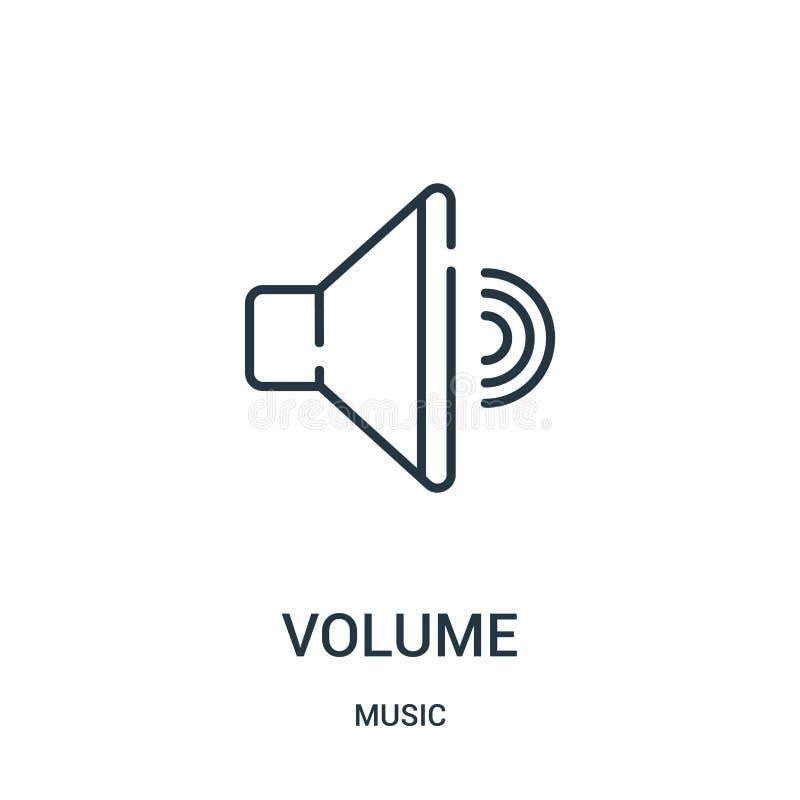 vettore dell'icona del volume dalla raccolta di musica Linea sottile illustrazione di vettore dell'icona del profilo del volume illustrazione vettoriale