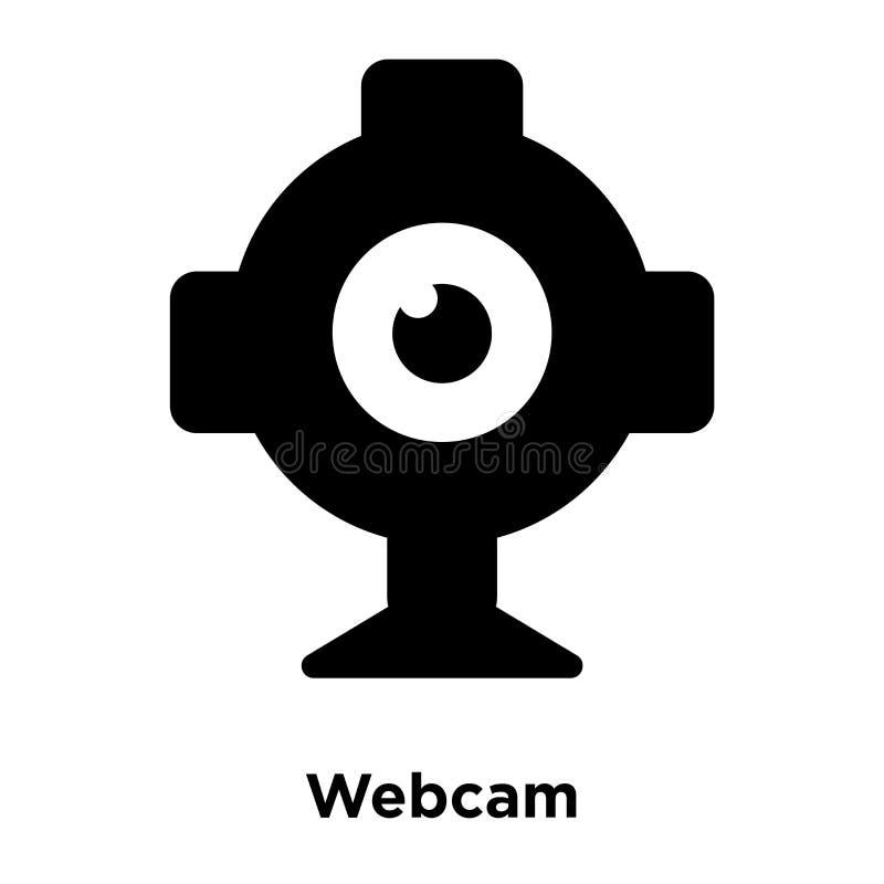 Vettore dell'icona del webcam isolato su fondo bianco, concetto di logo di royalty illustrazione gratis