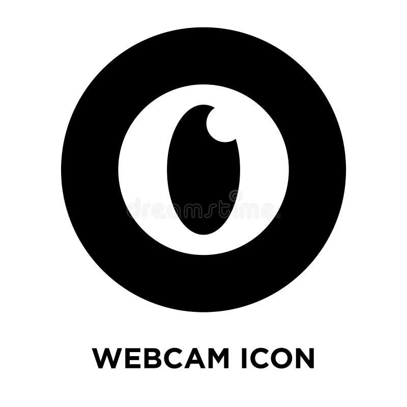 Vettore dell'icona del webcam isolato su fondo bianco, concetto di logo di illustrazione vettoriale