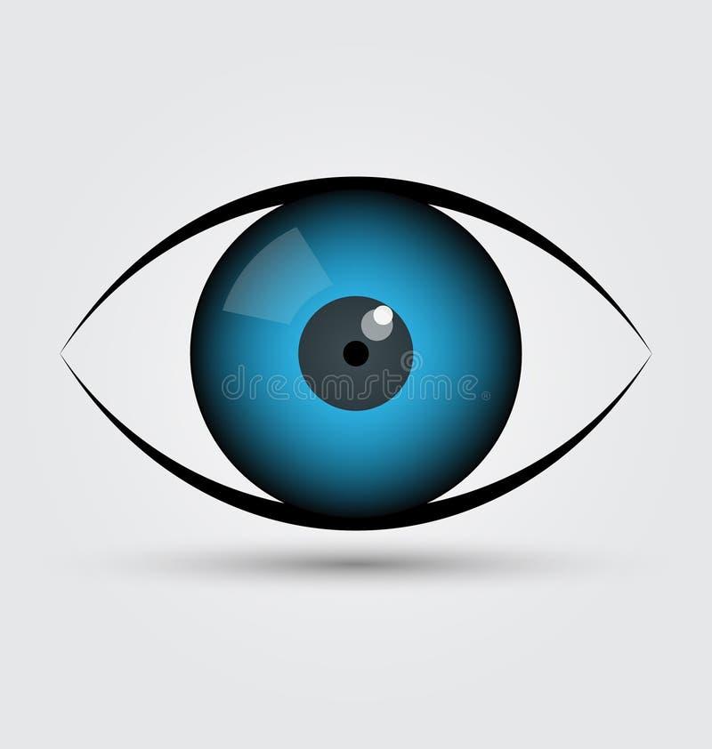 Vettore dell'icona dell'occhio azzurro illustrazione di stock