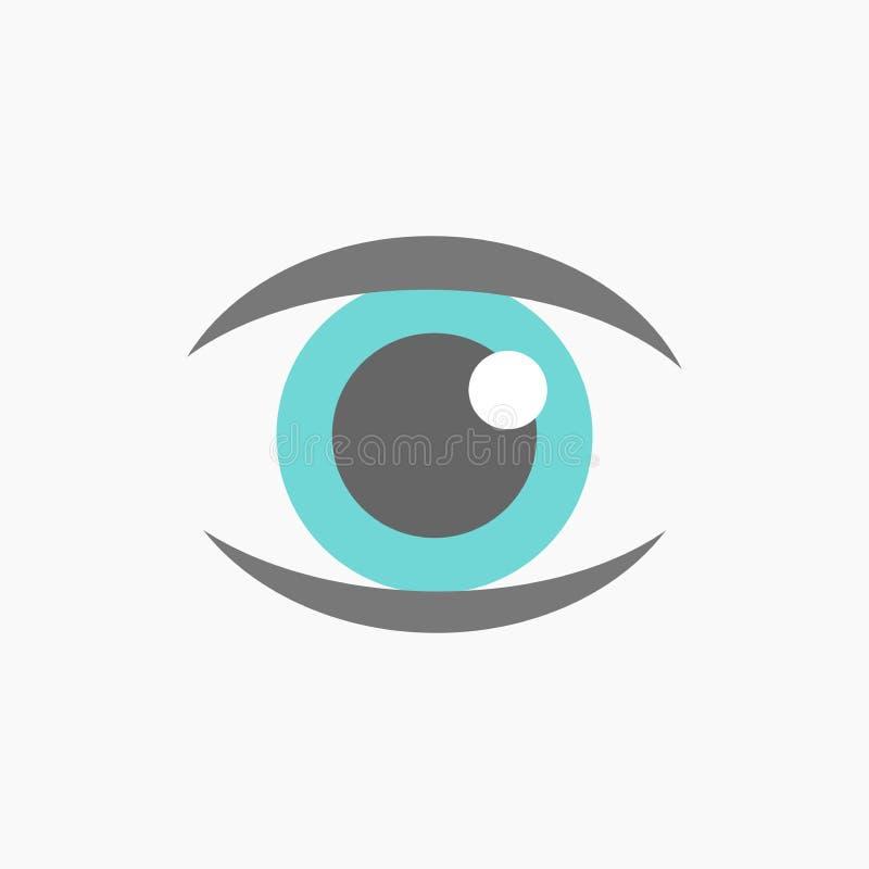 Vettore dell'icona dell'occhio azzurro illustrazione vettoriale