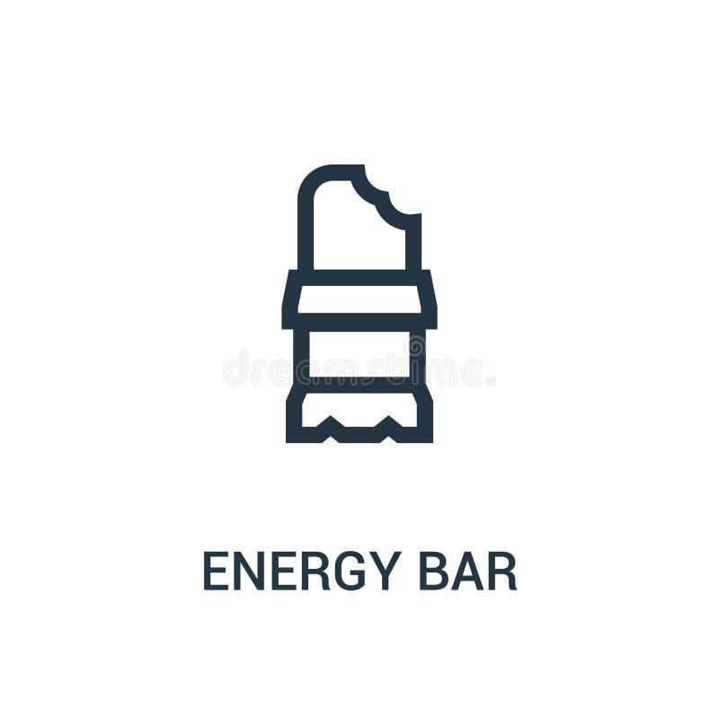 vettore dell'icona della barra di energia dalla raccolta della palestra Linea sottile illustrazione di vettore dell'icona del pro illustrazione vettoriale