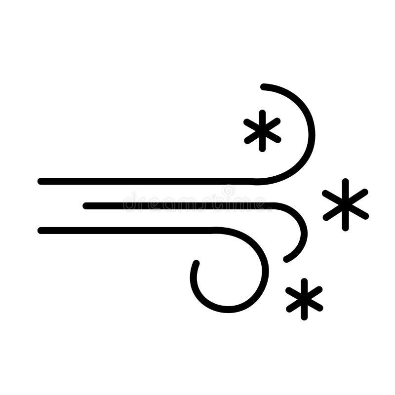 Vettore dell'icona della bufera di neve illustrazione di stock