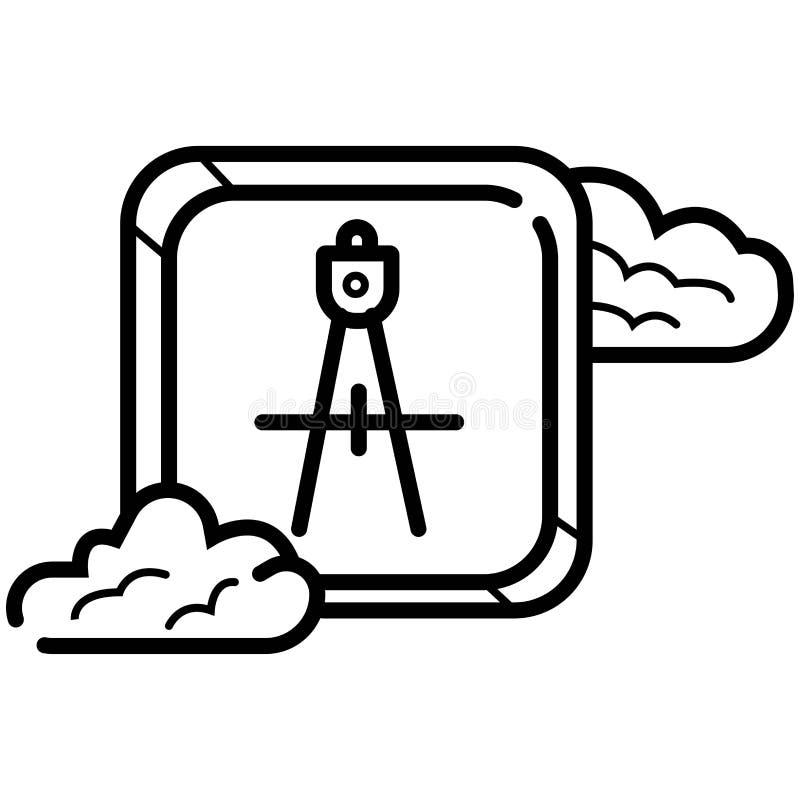 Vettore dell'icona della bussola royalty illustrazione gratis