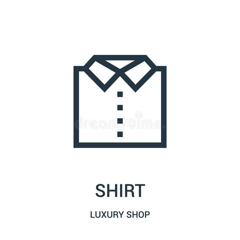 vettore dell'icona della camicia dalla raccolta di lusso del negozio Linea sottile illustrazione di vettore dell'icona del profil illustrazione di stock