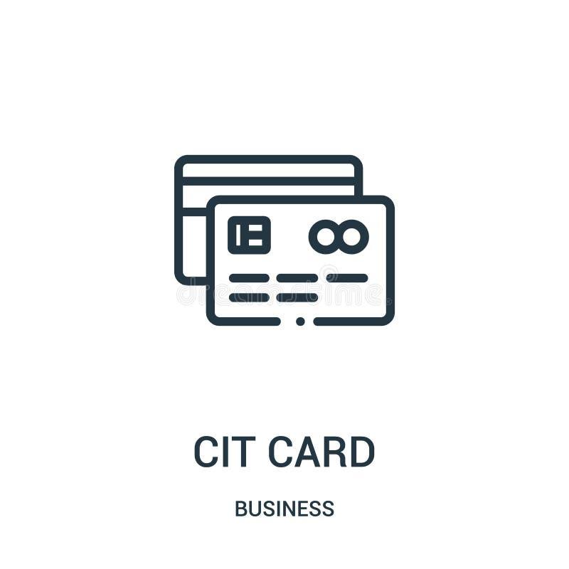 vettore dell'icona della carta di credito dalla raccolta di affari Linea sottile illustrazione di vettore dell'icona del profilo  illustrazione vettoriale