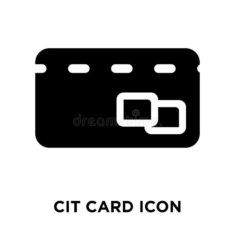 Vettore dell'icona della carta di credito isolato su fondo bianco, conce di logo illustrazione di stock