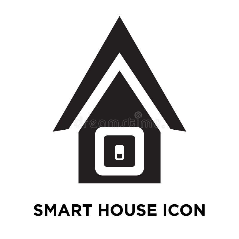 Vettore dell'icona della casa intelligente isolato su fondo bianco, conce di logo royalty illustrazione gratis