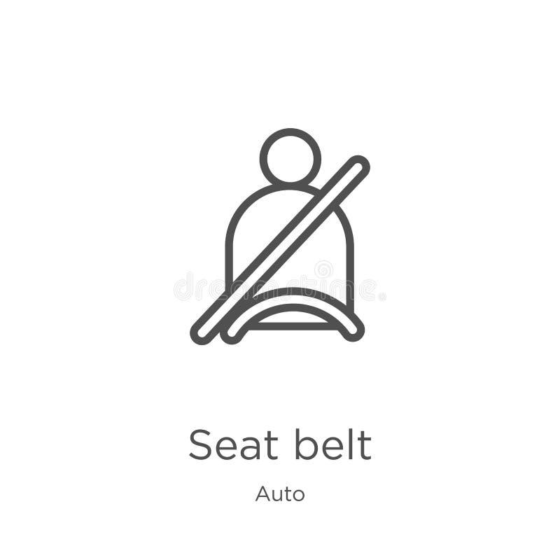 vettore dell'icona della cintura di sicurezza dalla raccolta automatica r r illustrazione di stock