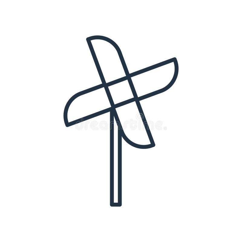 Vettore dell'icona della girandola isolato su fondo bianco, segno della girandola illustrazione vettoriale