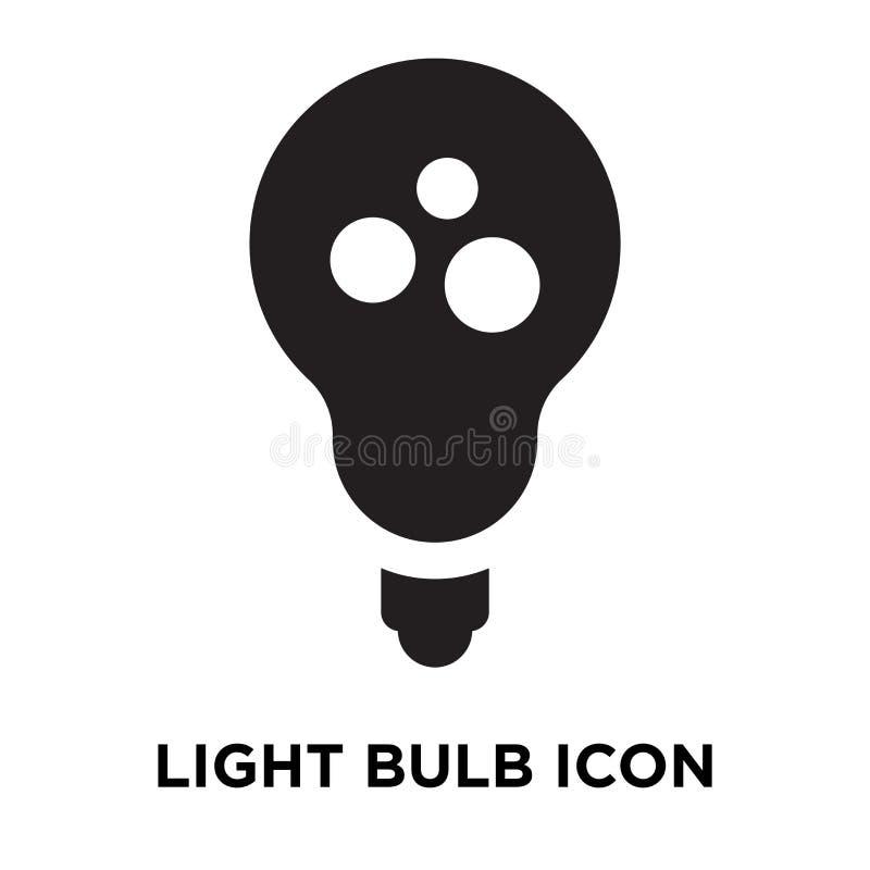 Vettore dell'icona della lampadina isolato su fondo bianco, concep di logo royalty illustrazione gratis