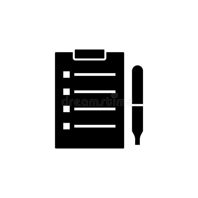 Vettore dell'icona della lavagna per appunti royalty illustrazione gratis