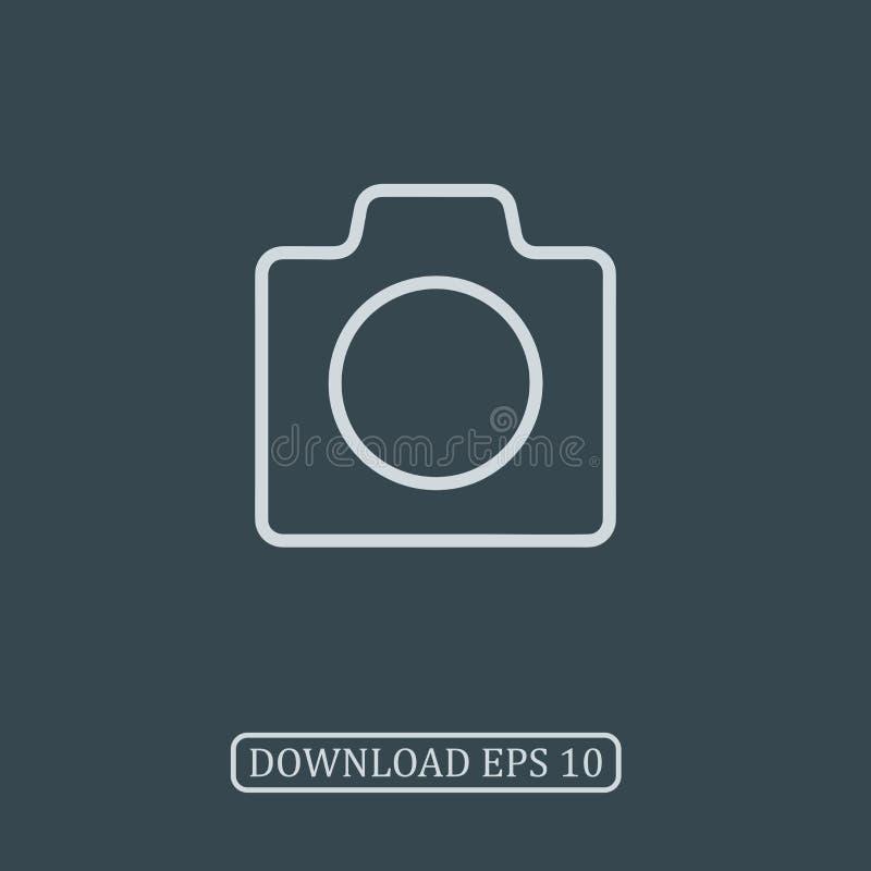 Vettore dell'icona della macchina fotografica della foto immagini stock libere da diritti