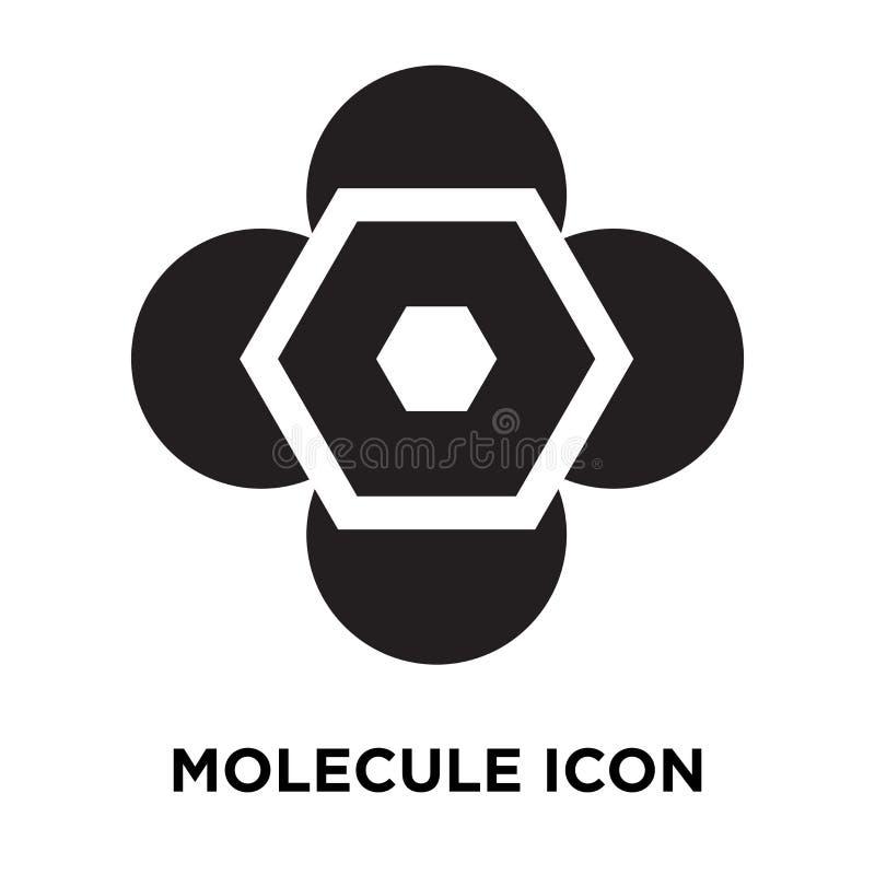 Vettore dell'icona della molecola isolato su fondo bianco, concetto di logo illustrazione vettoriale