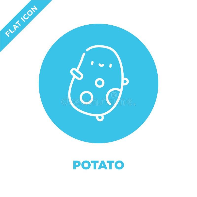 vettore dell'icona della patata Linea sottile illustrazione di vettore dell'icona del profilo della patata simbolo della patata p illustrazione di stock
