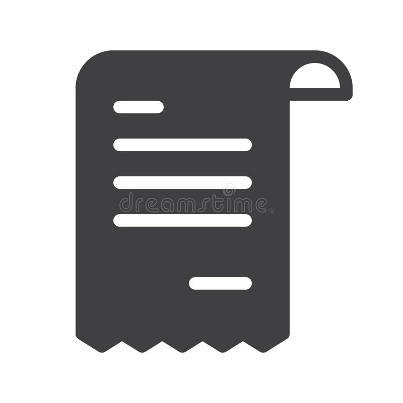 Vettore dell'icona della ricevuta illustrazione di stock