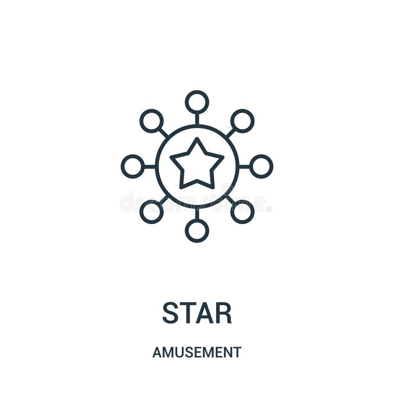 vettore dell'icona della stella dalla raccolta di divertimento Linea sottile illustrazione di vettore dell'icona del profilo dell illustrazione di stock