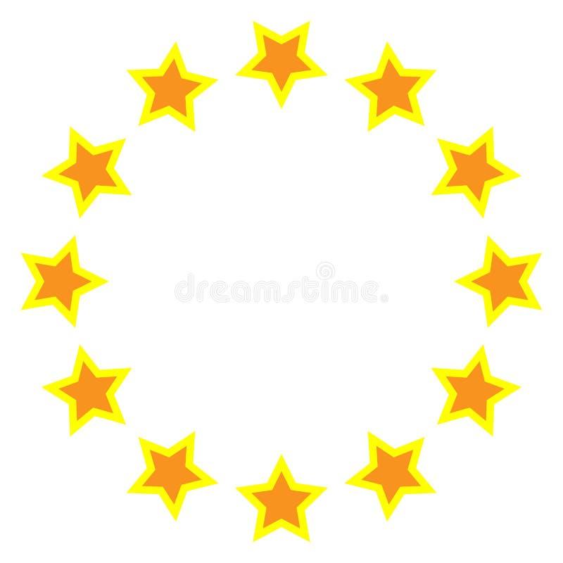 Vettore dell'icona della stella Rango classico Progettazione senza cuciture del cerchio della stella del modello Progettazione fa illustrazione vettoriale