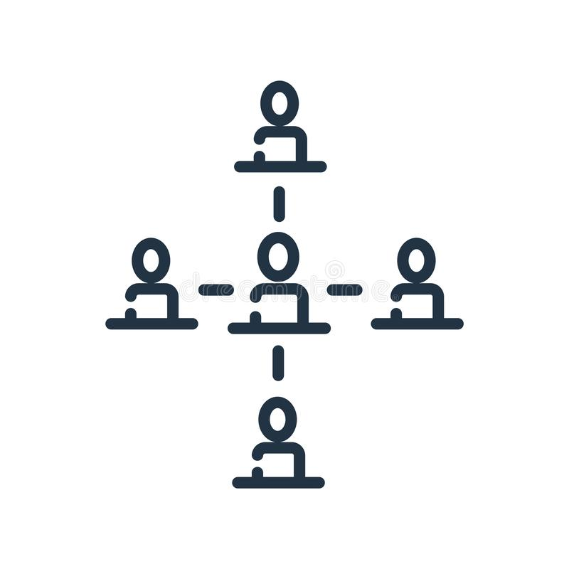 Vettore dell'icona della struttura gerarchica isolato su fondo bianco, illustrazione vettoriale