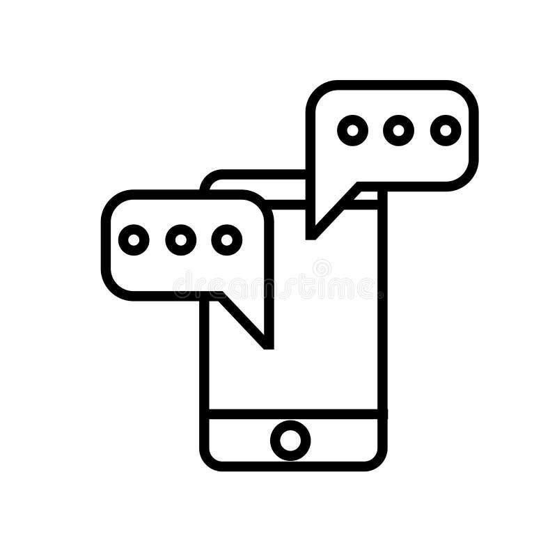 Vettore dell'icona della struttura gerarchica isolato su fondo bianco, segno della struttura gerarchica illustrazione di stock