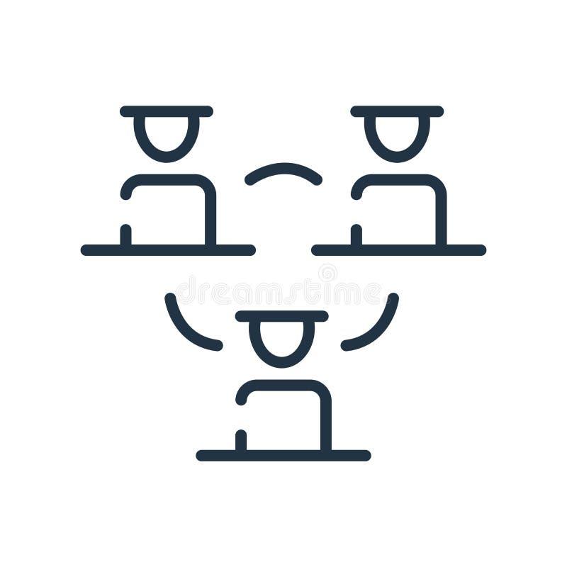 Vettore dell'icona della struttura gerarchica isolato su fondo bianco, sul segno della struttura gerarchica, sulla linea simbolo  illustrazione di stock