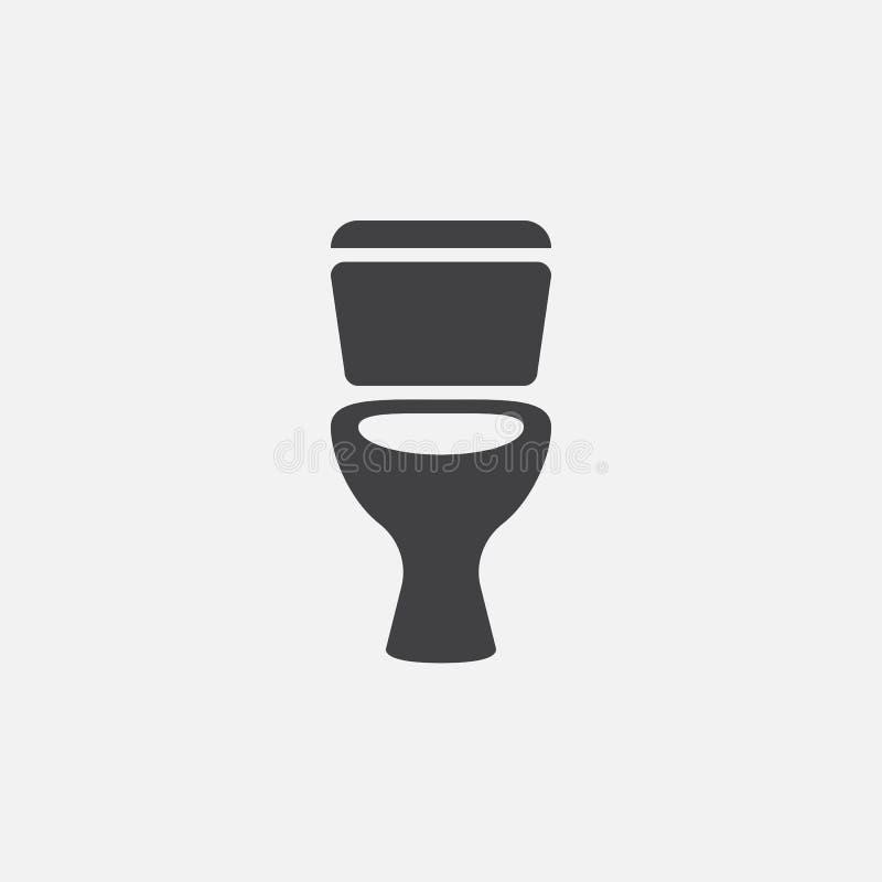 Vettore dell'icona della toilette, illustrazione di logo di colore solido, pittogramma isolato su bianco illustrazione vettoriale