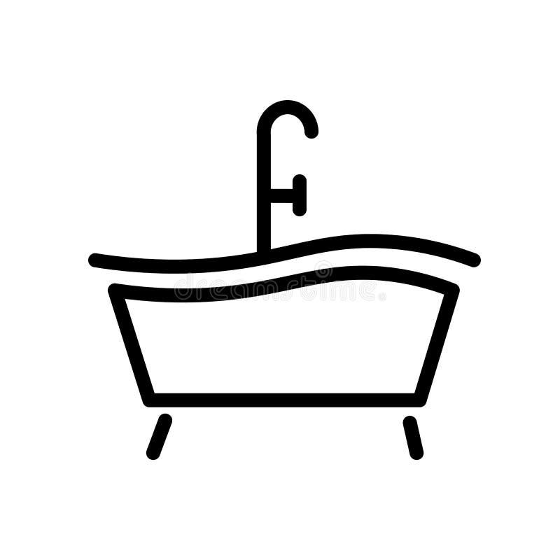 Icona Della Vasca Da Bagno Illustrazione Di Stock Illustrazione
