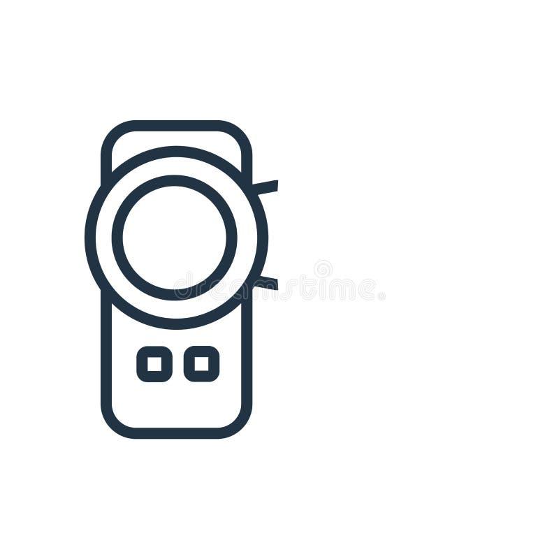 Vettore dell'icona della videocamera isolato su fondo bianco, segno della videocamera royalty illustrazione gratis