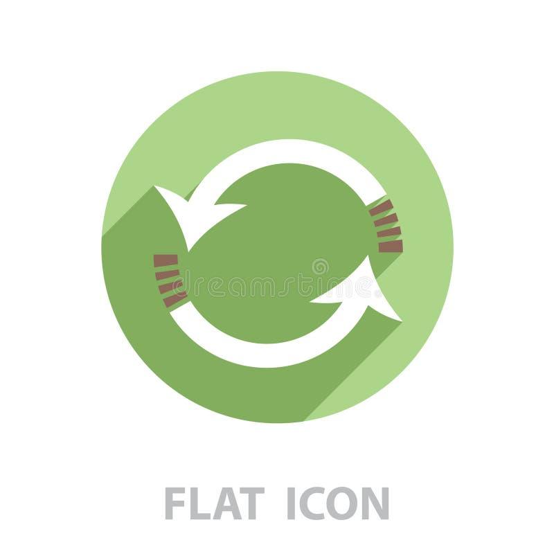 Vettore dell'icona delle frecce di rotazione illustrazione di stock