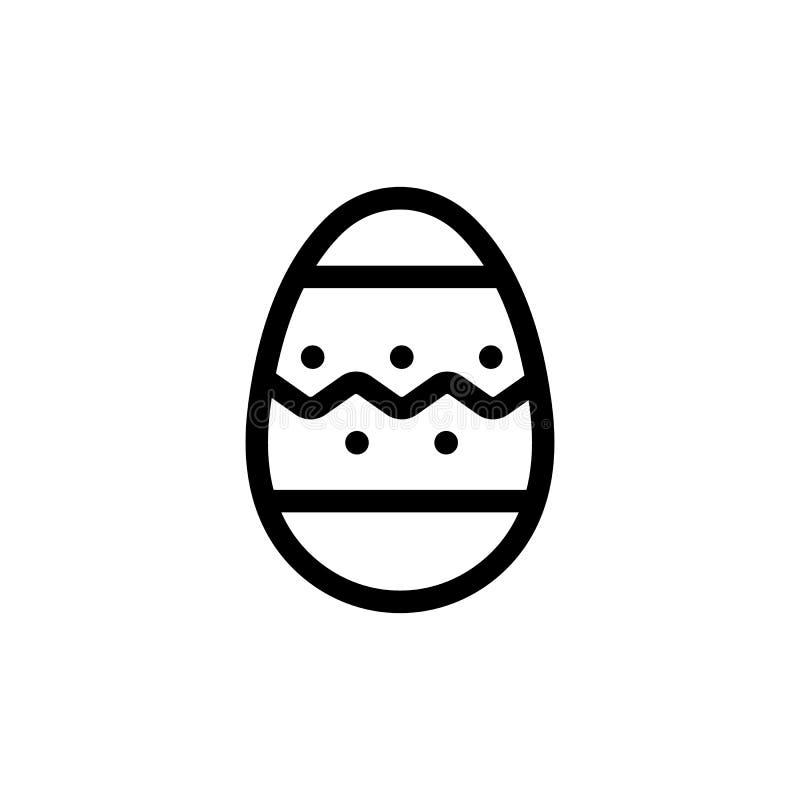Vettore dell'icona delle uova di Pasqua Illustrazione del simbolo di contorno isolata illustrazione di stock