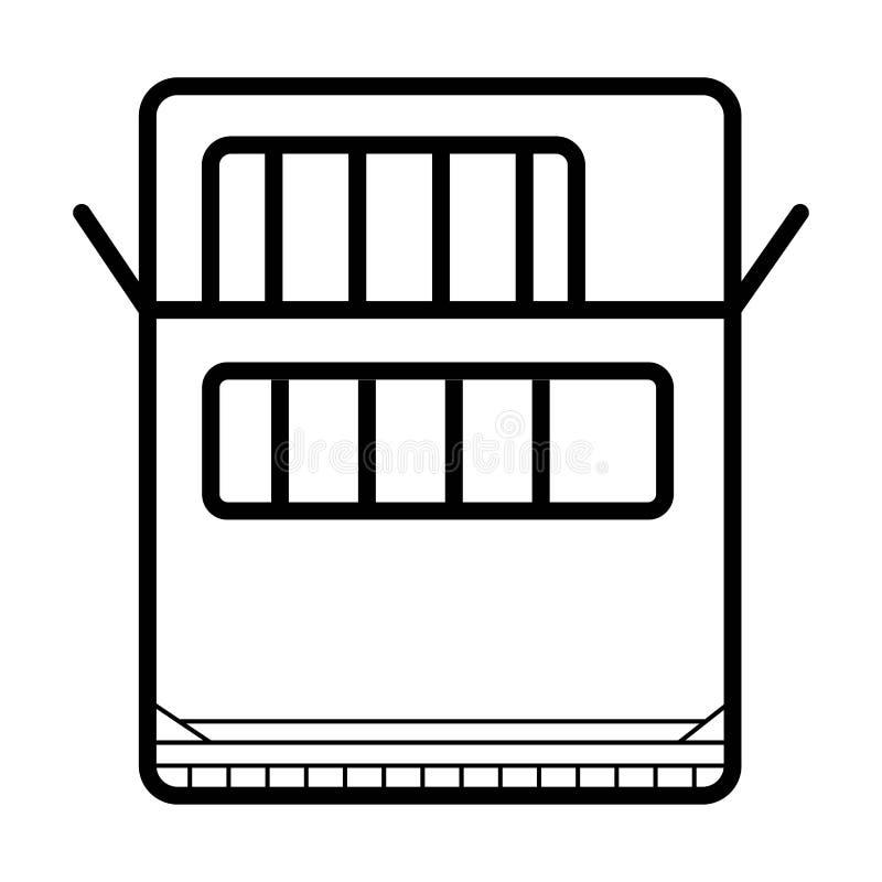 Vettore dell'icona dello scaffale illustrazione di stock
