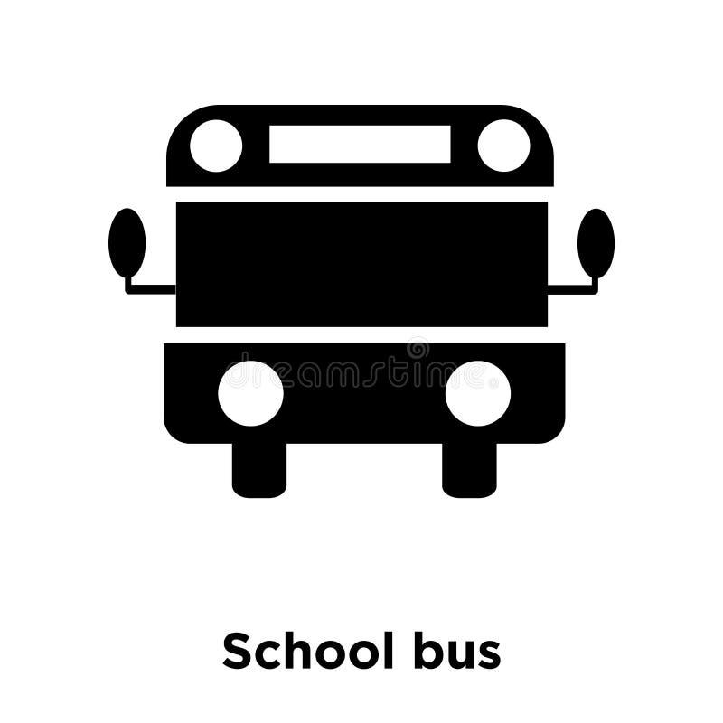 Vettore dell'icona dello scuolabus isolato su fondo bianco, concep di logo illustrazione di stock