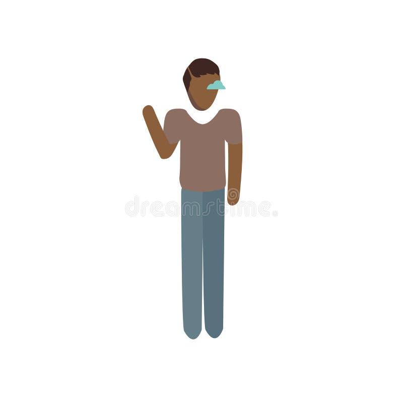 Vettore dell'icona dello specialista dell'IT isolato su fondo bianco, segno dello specialista dell'IT, stando personaggio dei car illustrazione di stock