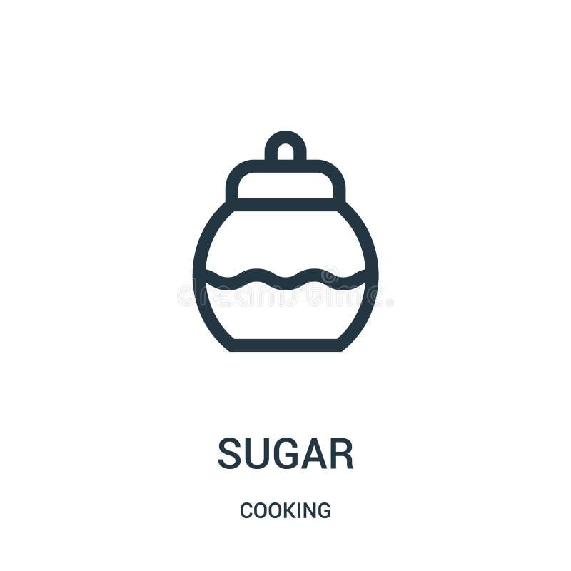 vettore dell'icona dello zucchero dalla cottura della raccolta Linea sottile illustrazione di vettore dell'icona del profilo dell royalty illustrazione gratis