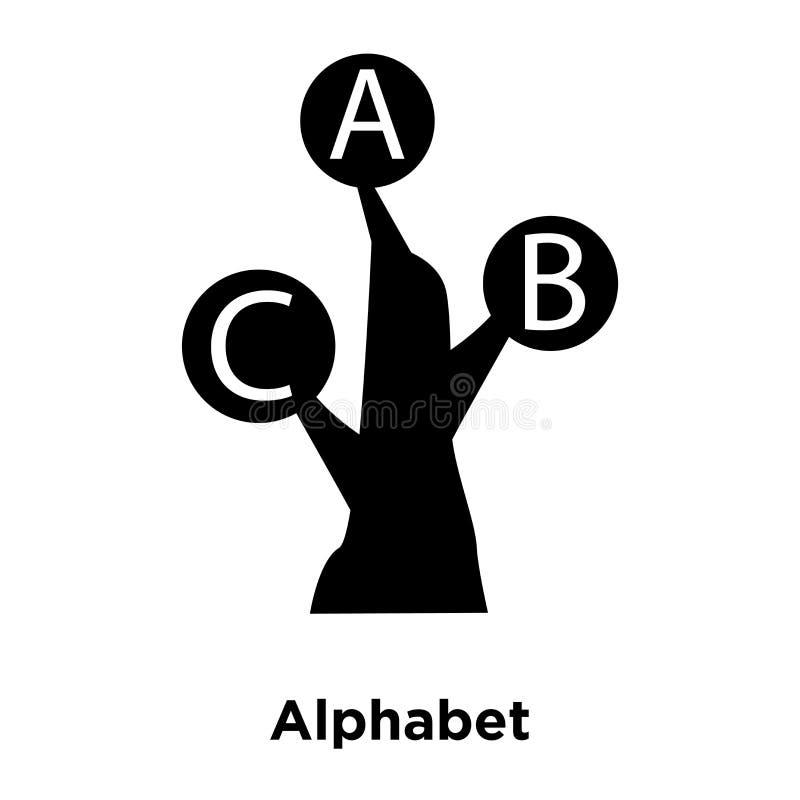 Vettore dell'icona di alfabeto isolato su fondo bianco, concetto di logo illustrazione di stock